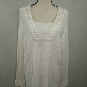 Style & Co Sweater Plus Size 1X Long Sleeve White